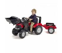 Minamas traktorius su kaušu ir priekaba | Case LRX1130 | Falk