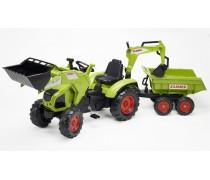 Minamas traktorius su kaušu ir priekaba | TRACTOR CLAAS AXOS 330 | Falk
