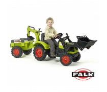 Minamas traktorius su kaušu ir priekaba | CLAAS ARION 430 | Falk
