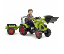 Minamas traktorius su kaušu ir priekaba - vaikams nuo 3 metų | Claas Axos 330 | Falk 1011AM