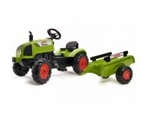 Minamas traktorius su priekaba | Claas Arion 410 | Falk