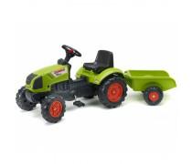 Minamas traktorius su priekaba | GREEN CLAAS ARION 410 | Falk
