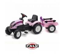 Minamas traktorius su priekaba ir smėlio žaislais nuo 2 m. | Princess | Falk 2056C