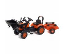 Minamas traktorius su priekaba | Kubota M7171 | Falk