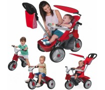Triratukas 4in1 BABY EVOLUTION EASY TRIKE | Red | Feber