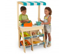 Vaikiška medinė parduotuvė su interaktyviu kasos aparatu | KidKraft 53017