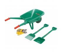 Vaikiškas karutis su sodininko įrankiais | Bosch Gardener Set | Klein 2752