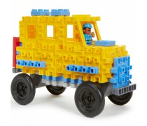 Konstravimo kaladėlės 70 vnt | Waffle blocks School Bus | Little tikes 644467M