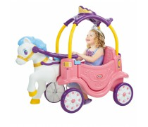 Mašina paspirtukas - karieta su žirgu | Cozy Coupe Princess Horse and Carriage | Little Tikes 642326
