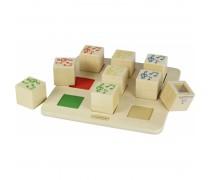 Garsų atpažinimo mediniai kubai | Sound Matching Cubes | Masterkidz MK08800