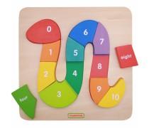 Medinė dėlionė su skaičiais | Numbering Snake Puzzle | Masterkidz MK00712