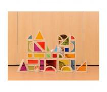 Spalvotos kaladėlės 30 vnt | Rainbow blocks | Masterkidz ME06929