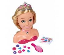 Lėlės galva šukuosenoms ir makiažui su priedais | Princess | Simba 5560177