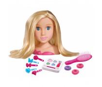 Lėlės galva šukuosenoms su priedais | Simba 5560029