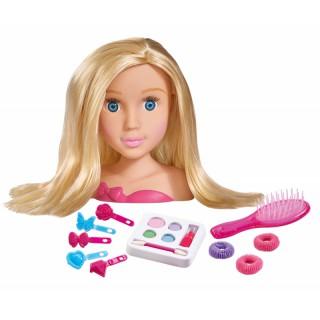 Lėlės galva 19 cm šukuosenoms ir makiažui su priedais | My Girl | Simba 5560029