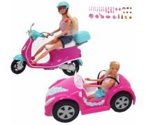 Rinkinys 2 Steffi lėlės, mašina ir motoroleris | Simba 5738332