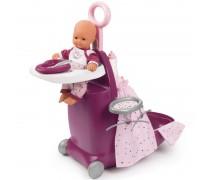 Daugiafunkcis lėlės priežiūros rinkinys lagamine 3in1 | Baby Nurse | Smoby 220346