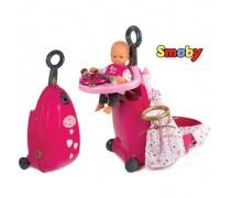 Daugiafunkcis lėlės priežiūros rinkinys lagamine | Baby Nurse | Smoby 220316