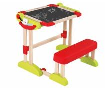 Daugiafunkcis stalas-magnetinė piešimo lenta su suoliuku | Medinis | Smoby