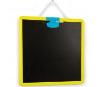 Dvipusė pakabinama piešimo lenta | Geltona | Smoby