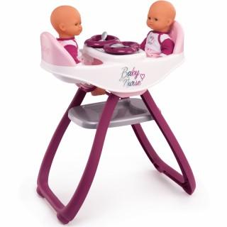 Maitinimo kėdutė ir sūpynė dvynukams 2in1 | Baby Nurse | Smoby 220344