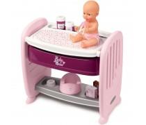 Lėlė, lovytė ir vystymo stalas su priedais 2in1 | Baby Nurse | Smoby 220353