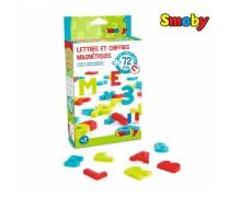 Magnetinės didžiosios raidės ir skaičiai 72 vnt | Smoby