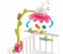 Muzikinė karuselė su drugeliais ir projektoriumi | Rožinė | Smoby