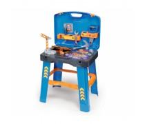 Sulankstomas vaikiškas darbastalis - lagaminas su priedais 22 vnt | 2in1 Bob Builder | Smoby