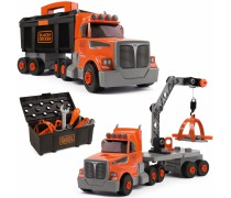 Sunkvežimis su kranu, įrankių dėže ir įrankiais 3in1 | Smoby 360175