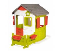 Vaikiškas didelis žaidimų namelis su sodu | Neo Jura | Smoby 810501