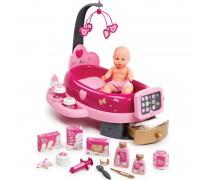 Vaikiškas elektroninis lėlės priežiūros rinkinys su priedais | Baby Nurse | Smoby