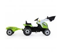 Vaikiškas minamas traktorius su kaušu ir priekaba | Farmer Max | Smoby 710109