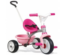 Vaikiškas rožinis triratukas | Be Move 740327 | Smoby