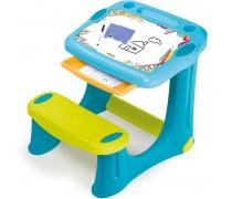 Vaikiškas stalas su piešimo lenta   Mėlynas   Smoby 420218