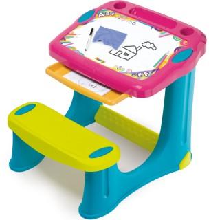 Vaikiškas stalas su piešimo lenta | Rožinis | Smoby 420219