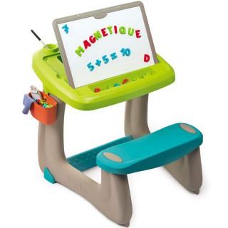 Vaikiškas stalas su suoliuku ir dvipuse piešimo lenta | Smoby 420103