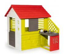 Vaikiškas žaidimų namelis su virtuvėlė ir priedais   Nature House and Kitchen   Smoby