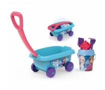 Vežimėlis su kibirėliu ir smėlio žaislais | Frozen | Smoby