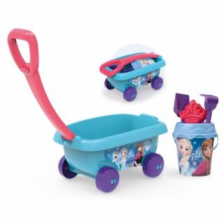 Vežimėlis su smėlio kibirėliu ir priedais | Frozen | Smoby 867009
