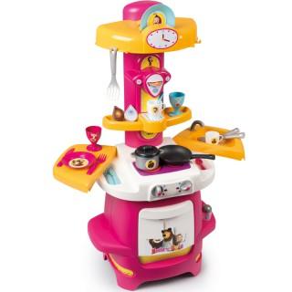 Virtuvėlė su laikrodžiu ir priedais | Maša ir lokys | Smoby 310710
