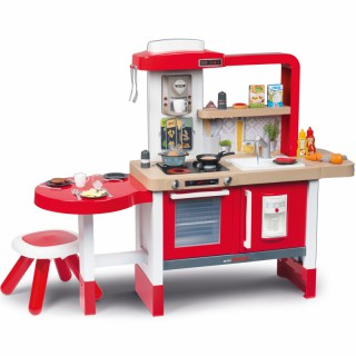 Virtuvėlė su stalu, kėdute ir 43 priedais | Tefal Evoluttive Kitchen Grand Chef | Smoby 312301