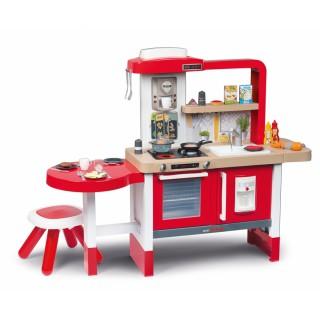 Virtuvėlė su tekančiu vandeniu, stalu, kėdute ir priedais 43 vnt. | Tefal Evolutive | Smoby 312301