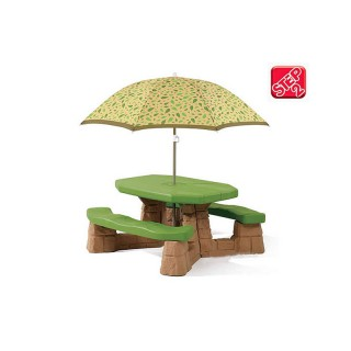 Iškylos stalas su suoliukais ir skėčiu | Step2 7877
