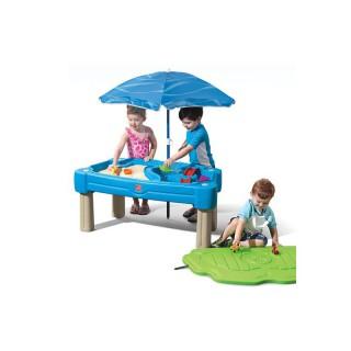 Smėlio ir vandens stalas su skėčiu ir dangčiu 2in1 | Step2 8509