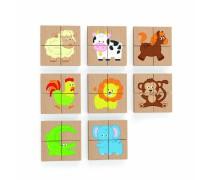 Magnetinė medinė dėlionė | Gyvūnai | Viga 50722