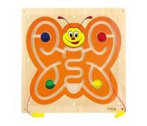 Medinė magnetinė sieninė lenta - labirintas | Drugelis | Viga 50436