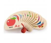 Medinė knygutė - abėcėlė | Mini Book - Learning Alphabet | Viga 50547