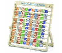Medinė mokomoji lenta mokomės dauginti | Learning Multiplication | Viga 50036