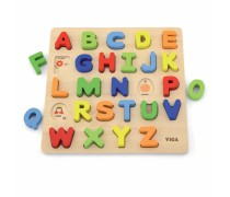 Medinė raidžių dėlionė | Didžiosios raidės | Viga 50124